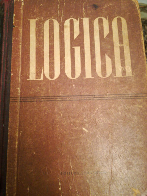 Logica, sub redactia D.P. Gorski, P.V. Tavanet, 1957, trducere din rusa foto