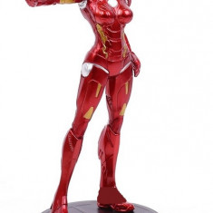 Figurina Iron Lady 20cm cu suport, femeia de otel, femeia ironman, eroi marvel