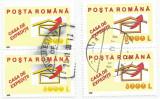 România, LP 1590/2002, Servicii poștale I, nuanțe diferite de culoare, oblit.