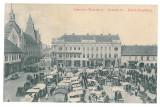 3515 - TIMISOARA, Market, Romania - old postcard, CENSOR - used - 1915