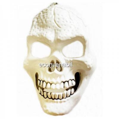 Masca de Halloween si Carnaval Craniu Alb foto