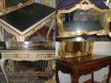 masa toaleta cu oglinda detasabila/birou antic/vintage baroc/venetian/Ludovic