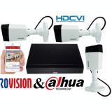 Cumpara ieftin Sistem supraveghere 3 camere Rovision 5MP HDCVI ( oem dahua ) , DVR 4 canale 5MP