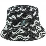 Palarie Kangol Wave Camo Bucket Negru (S,M,L,XL) - Cod 432923519