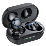 Casti Smart Techstar® TWS S26 , Wireless, Bluetooth V5.0, HD Audio, Touch, IPX5, iOS, Android, 300mAh, Type-C, Negru