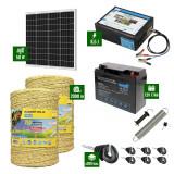 Pachet Gard electric 8,5J putere cu Panou Solar si 2000m de fir 160Kg