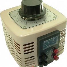 Autotransformator monofazic, 220V - 0...250V - 1.000W, voltmetru analogic