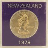 1 dollar/ dolar, 1978 Noua Zeilanda UNC/ necirculata - comemorativa, Australia si Oceania, Cupru-Nichel