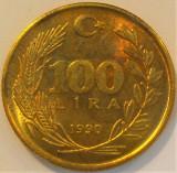 Moneda 100 LIRE - TURCIA, anul 1990 *cod 1145 C, Europa