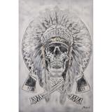 Craniu cu pene- pictura in ulei OP-26, Scene gen, Realism
