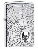 Cumpara ieftin Brichetă Zippo Spider Web Skull Emblem 29931