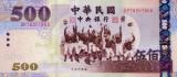 TAIWAN █ bancnota █ 500 Dollars █ 2004 █ P-1996 █ UNC █ necirculata
