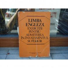 Limba engleza exercitii pentru admiterea in invatamantul superior , Catina Riosanu , 1978