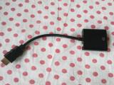 Mufa adaptor Convertor de la HDMI la VGA HDMI to VGA/3.5 mm Jack Stereo.