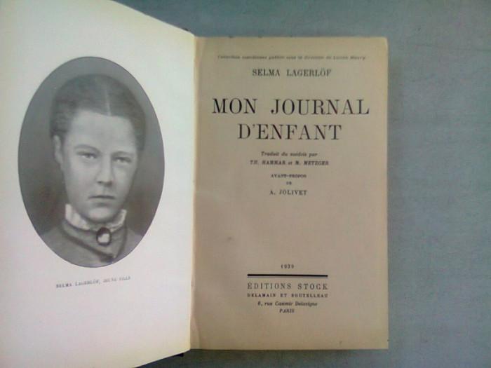 MON JOURNAL D'ENFANT - SELMA LAGERLOF