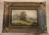 Lot 2 tablouri in ulei romanesti anii 1950-1970, Peisaje, Impresionism