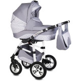 Cumpara ieftin Carucior Flamingo Easy Drive 3in1 Vessanti-Light Gray