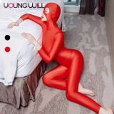 Costum sexy Young Will Ninja Burgler mulat pe corp cu fermoar pentru sex, Orion
