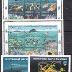 Dominica  1998  fauna  marina  MI  2583-3602  2 kleib.+2 bloc   MNH  w64