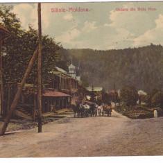 SLANIC MOLDOVA-VEDERE DIN SATU NOU-CARTE POSTALA CIRCULATA LA 1910