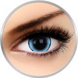 Fancy Snow Bird - lentile de contact colorate Crazy albastre/negre anuale - 360 purtari (2 lentile/cutie)