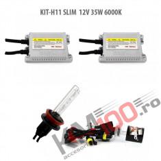 Set xenon H11 SLIM 12V 35W 6000K