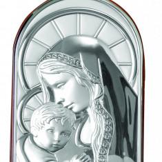 Icoana Argintata Maica si Pruncul, 6x9cm,Cod Produs:337