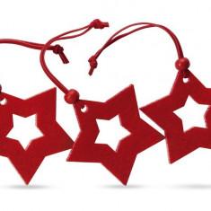 Ornamente Craciun in forma de stea - set 3 bucati, Alexer