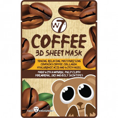 Masca cu Cafea Colagen si Acid Hialuronic W7 Coffee 3D Sheet Mask 18 g