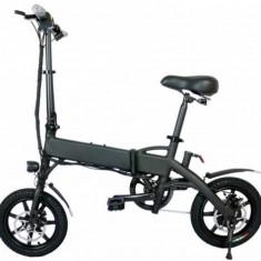 Bicicleta electrica CoolBike B18, Viteza maxima 35 km/h, Autonomie 40-110 km, Motor 250 W, Pliabila, Roti 14inch (Negru)