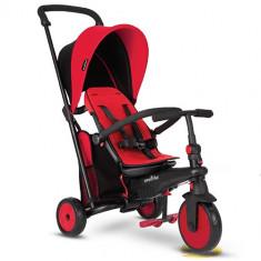 Tricicleta Pliabila 6 in 1 cu Certificare de Carucior si Tehnologie Touch Steering STR3 Rosu, Smart Trike