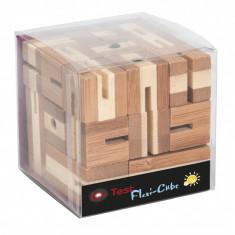 Joc logic puzzle 3D din bambus Flexi cub