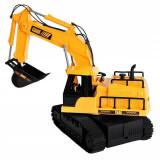 Excavator cu telecomanda 7 canale, reincarcabil usb, 18x13.5x33.5 cm, rotire 360 grade