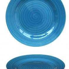 Farfurie ceramica 19cm albastra Raki