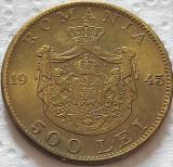 Moneda istorica 500 LEI - ROMANIA REGAT, anul 1945   *cod 5356 = A.UNC