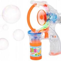 Jucarie Pistol Muzical cu Lumini pentru Facut Baloane de Sapun Bubble Gun, Copii 3 Ani+