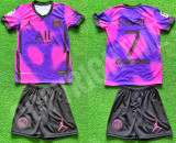 Compleu Echipament fotbal pentru copii PSG MBAPPE noul model 2021-2022, YL, YM, YS, YXL, YXS, YXXL, Tricou + Pantalon