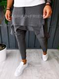 Pantaloni VAGABOND - de trening pentru barbati - slim fit - gri - A6382