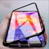 Husa Apple iPhone 8, Magnetica 360 grade Negru, Elegance Luxury cu spate de..., MyStyle