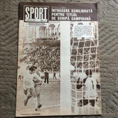 revista sport nr 3 martie 1980 fan sport fotbal handbal gimnastica atletism RSR