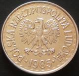 Moneda 1 ZLOT - POLONIA, anul 1985 *cod 684 = A.UNC!, Europa, Aluminiu