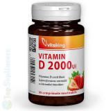 Vitamina D-2000 masticabila 90tab. (imunitate, oase, muschi) Vitaking