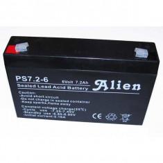 Acumulator stationar 6V 7,2Ah, Plumb Acid VRAL AGM Alien