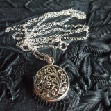 Pandantiv medalion pentru poză rotund - argint