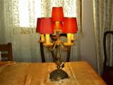 Veioza bronz masiva, Baroc Victorian, sec 20, antique