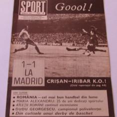 Revista SPORT-nr.4/04.1975(Spania-Romania,Dudu Georgescu)