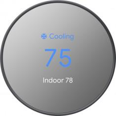 Termostat Nest Cu Senzori De Miscare, Temperatura, Umiditate Si Lumina Ambientala, Negru foto