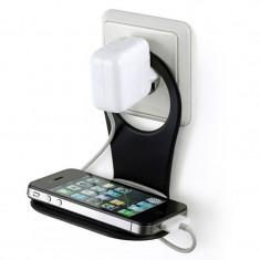 Suport telefon incarcare priza 10x5 cm, ABS