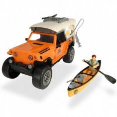 Masina Dickie Toys Fun Camping Set cu figurina si accesorii