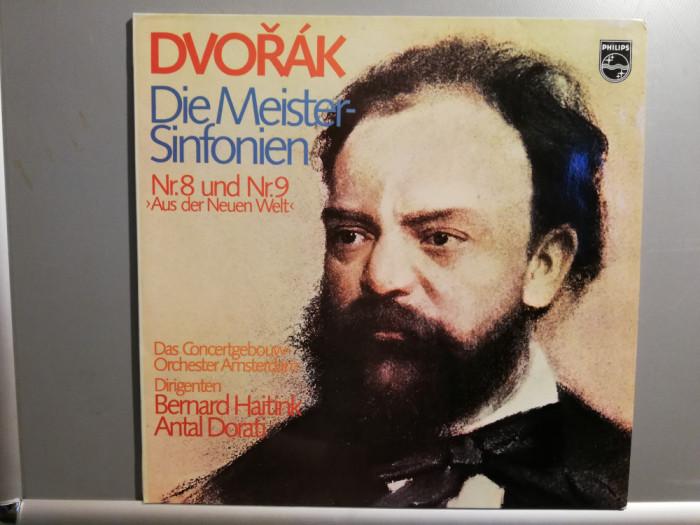 Dvorak – Symph no 8 & 9 – 2 LP Set (1980/Philips/RFG) - Vinil/Vinyl/ca Nou (M-)